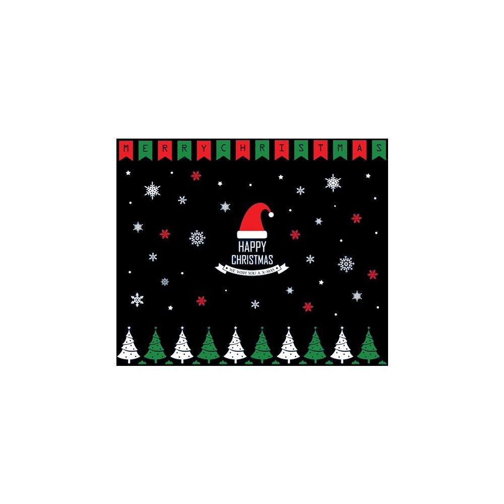 크리스마스 유리창 스티커 해피 산타 플래그B