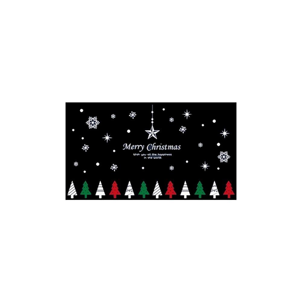 크리스마스 유리창 스티커 리틀 크리스마스 트리 3색