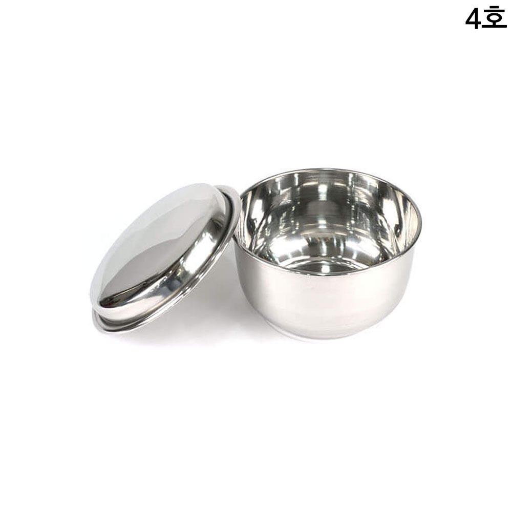 N7 스테인레스 업소용 입밥통 음식 보관용기 4호 23cm