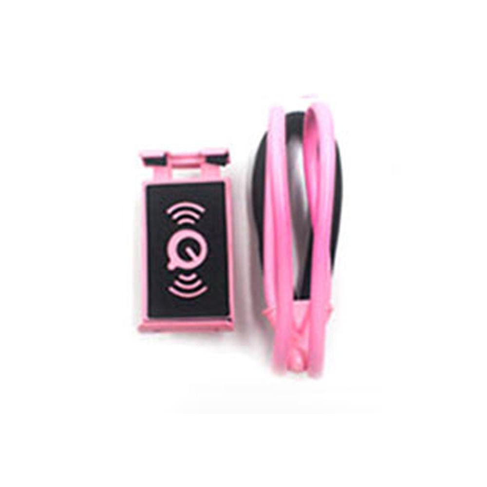 목걸이형 스마트폰 거치대 핑크