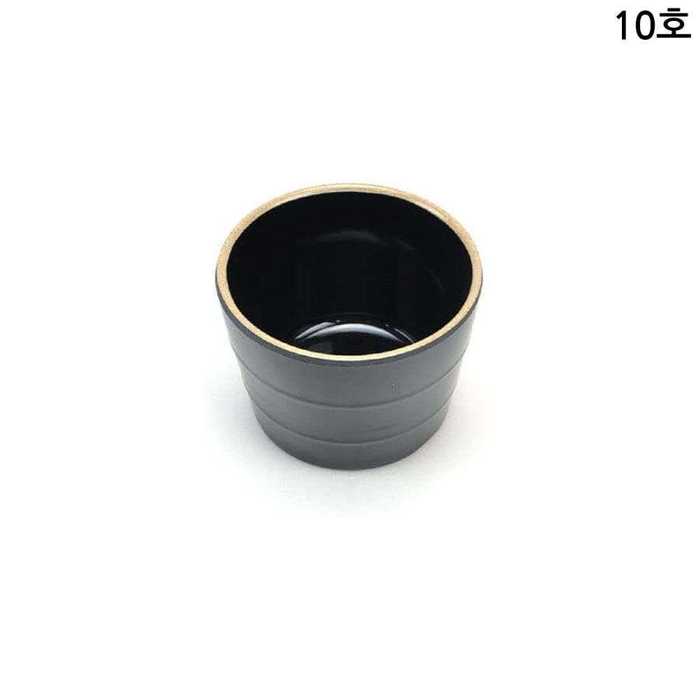 업소용 멜라민 모밀공기 앤틱블랙 10호 10cm