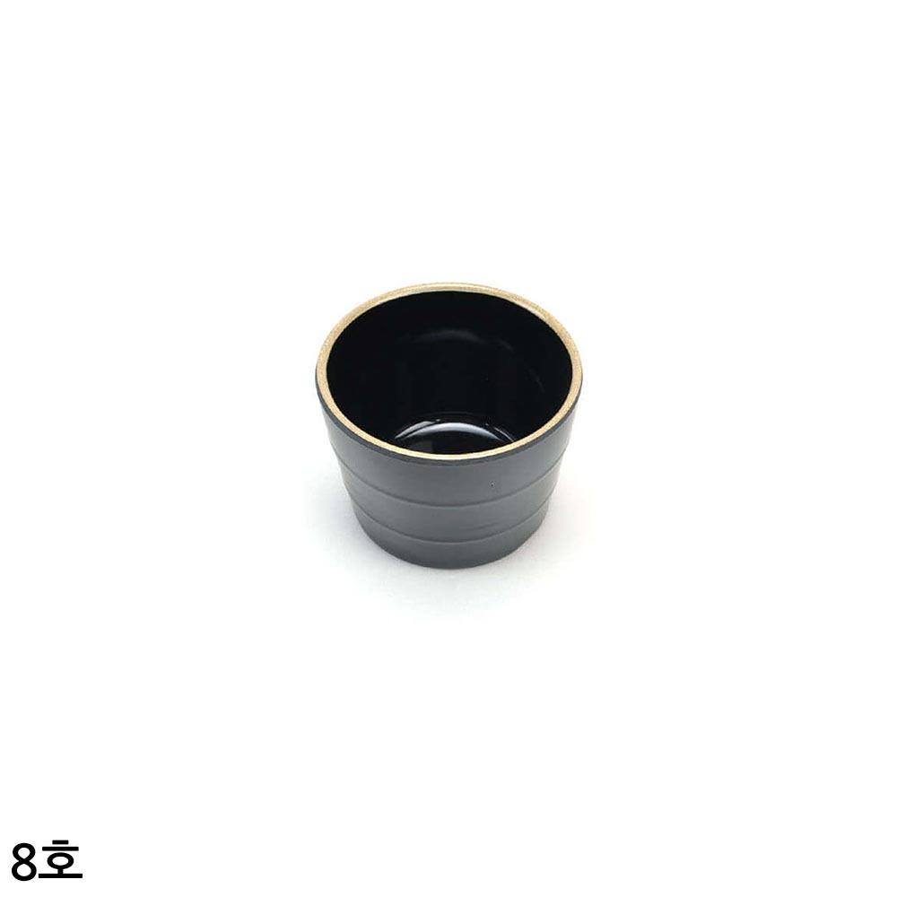 업소용 멜라민 모밀공기 앤틱블랙 8호 8cm