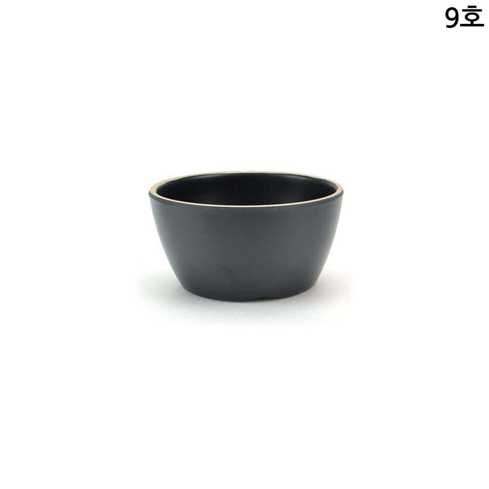 업소용 멜라민 특공기 밥그릇 앤틱블랙 9호 12cm