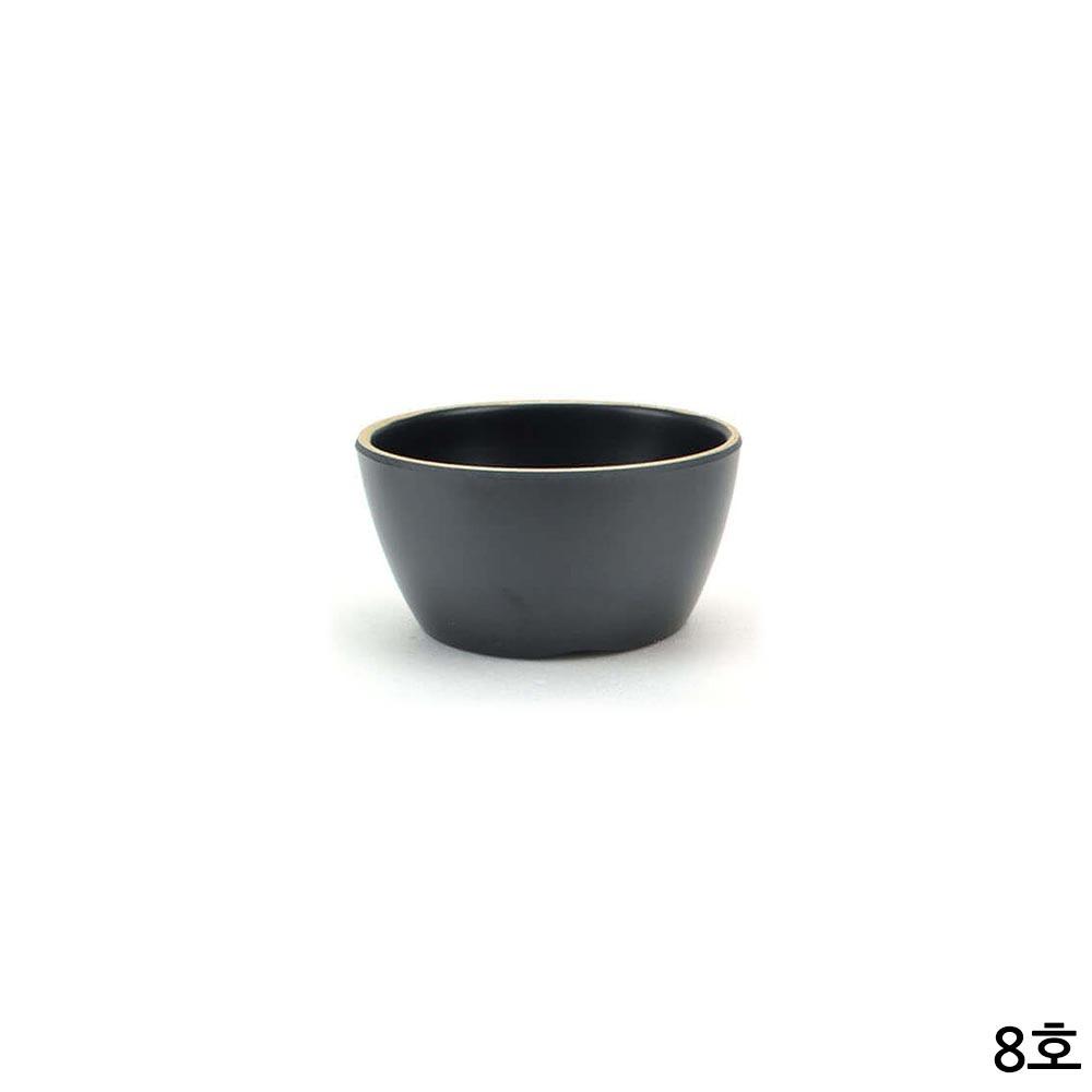 업소용 멜라민 특공기 밥그릇 앤틱블랙 8호 11cm