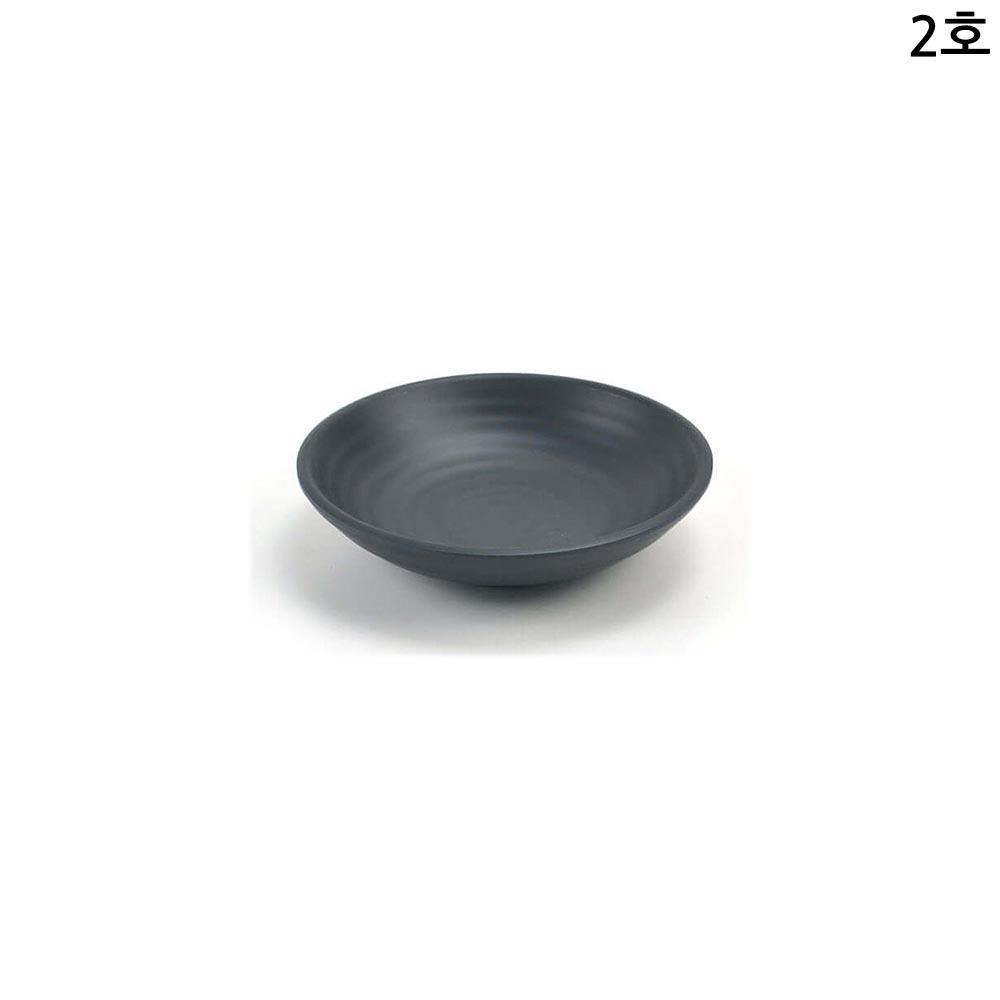 멜라민 퓨전토기 원형찬기 앞접시 2호 12cm