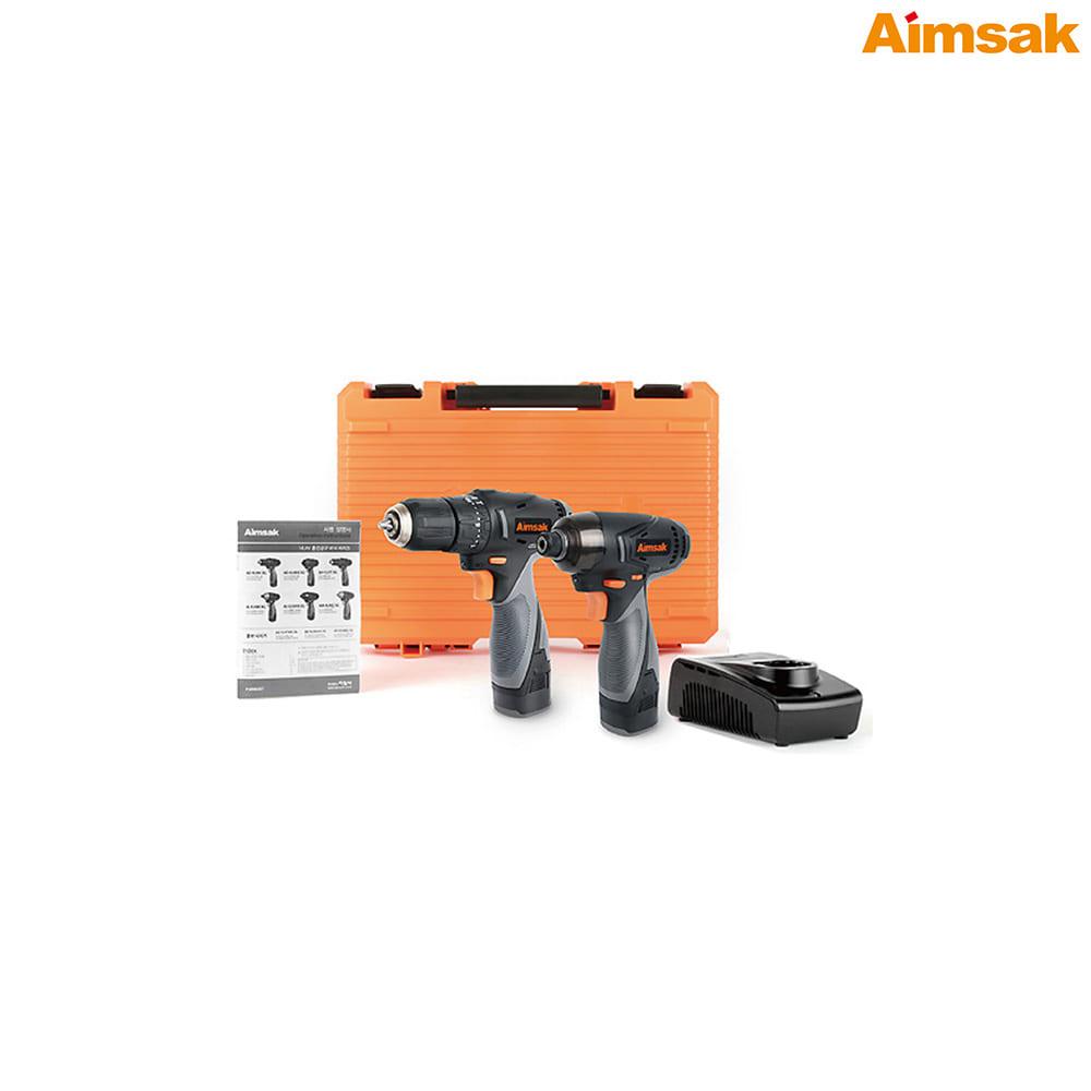 아임삭 충전 전동드릴 콤보세트 AO414TMII-3G 14.4V