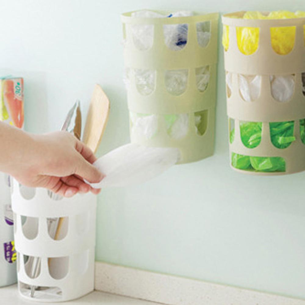 다용도 수납함 비닐 벽부착식