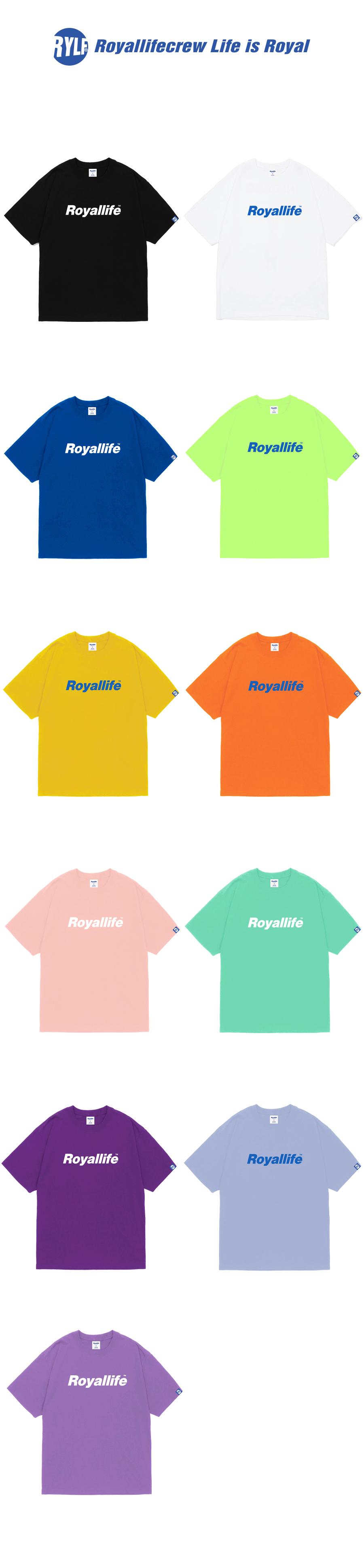 로얄라이프(ROYALLIFE) RL001 오리지널 로고 반팔 - 네온