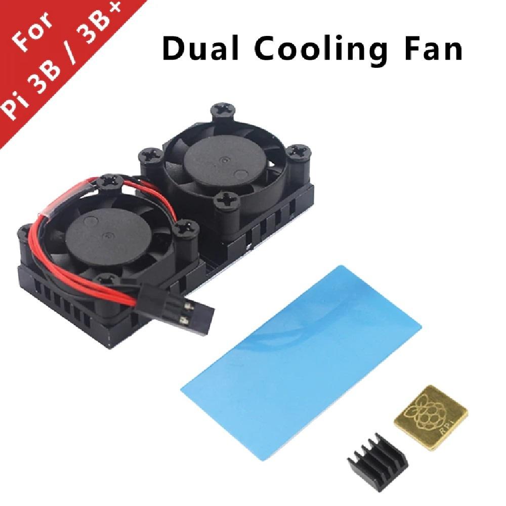 라즈베리파이3 B/B+ 전용 듀얼 쿨링 팬 모듈 (P009436339)