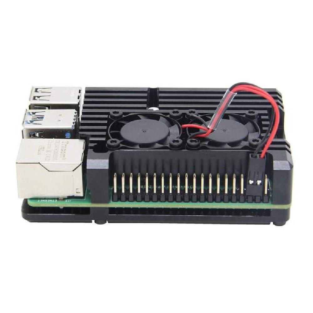 Raspberry Pi 4B 냉각 듀얼 팬 케이스 (P012244781)