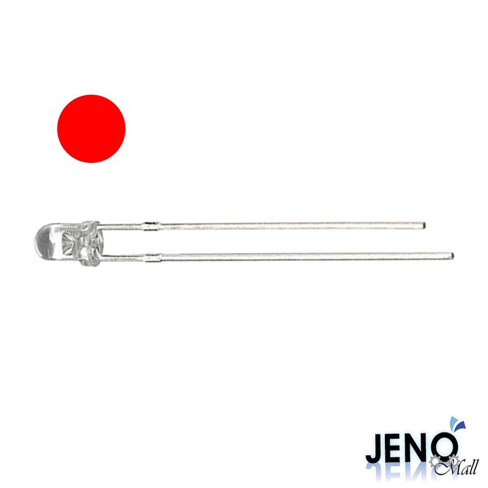 3mm 원형 DIP LED 발광다이오드 레드 625-630nm (HBL1009)