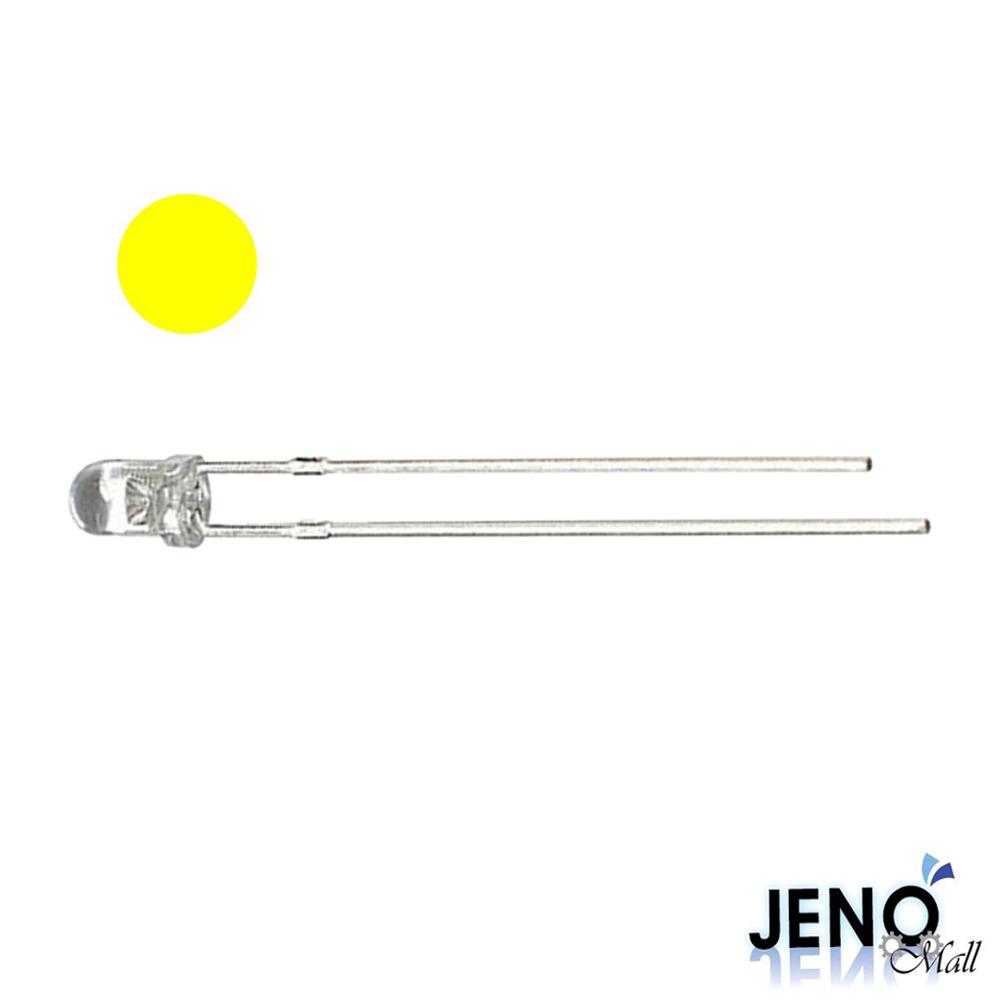 3mm 원형 DIP LED 발광다이오드 옐로우 585-595nm (HBL1010)