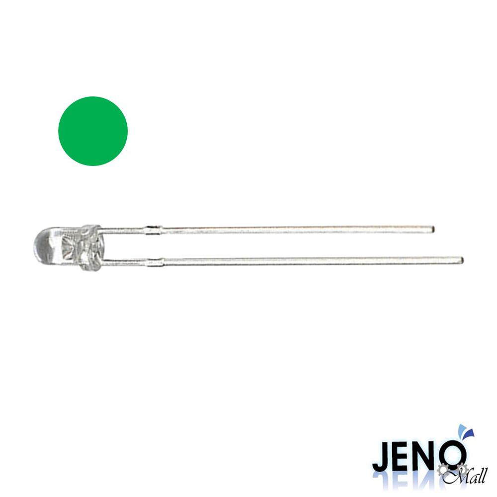 3mm 원형 DIP LED 발광다이오드 그린 515-525nm (HBL1011)