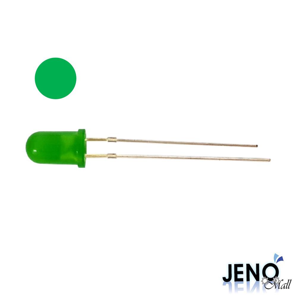 5mm 원형 DIP LED 발광다이오드 그린 515-520nm (HBL1013)