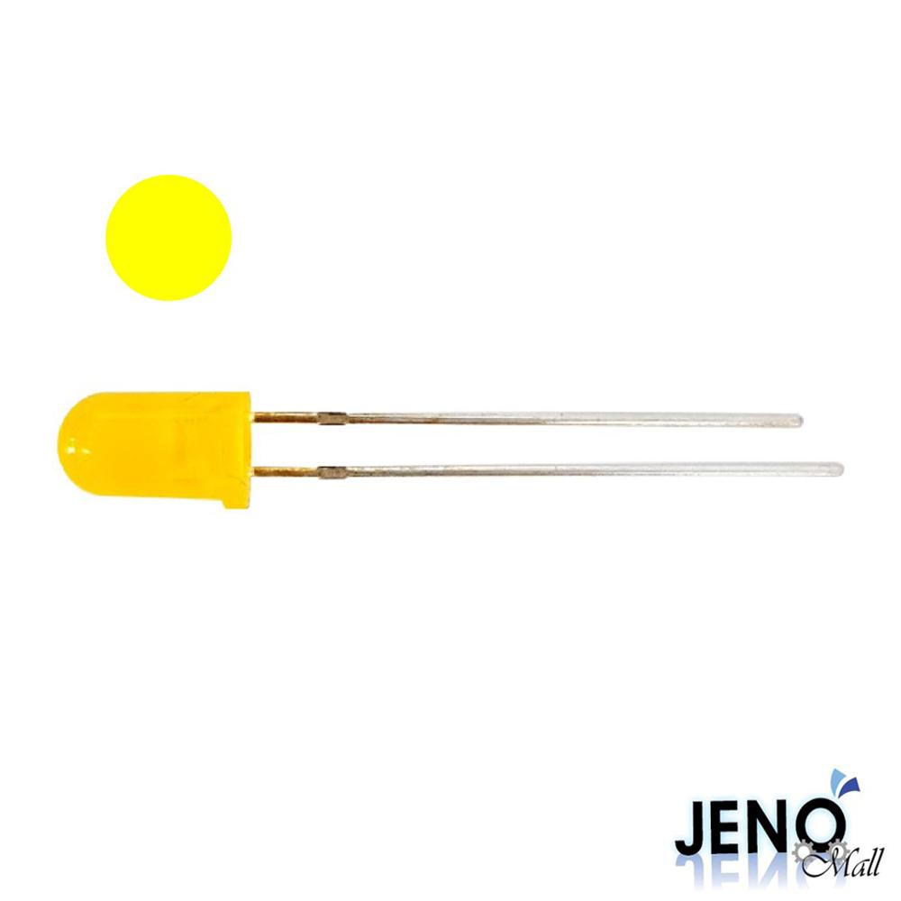 5mm 원형 DIP LED 발광다이오드 옐로우 585-595nm (HBL1014)