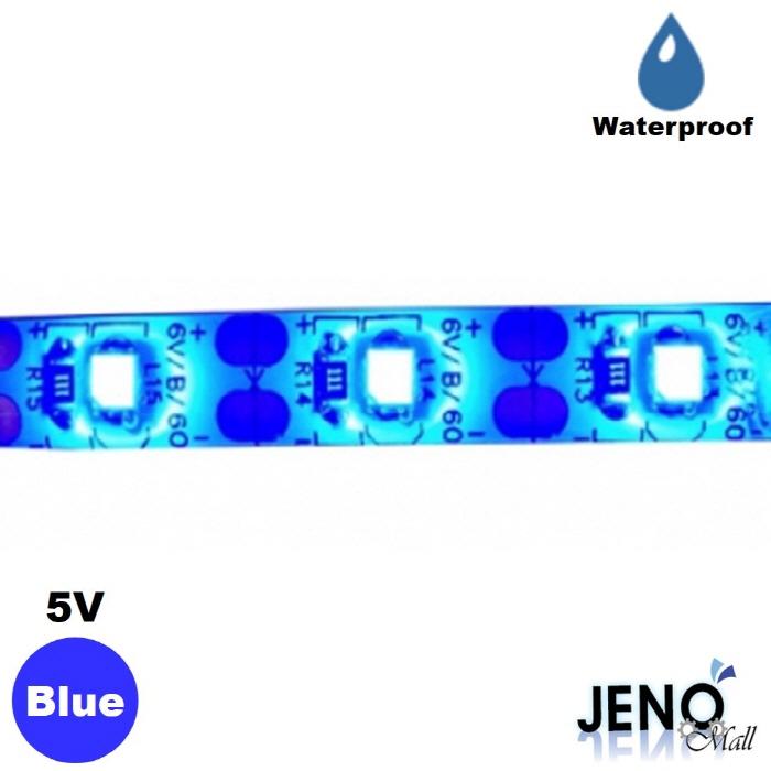 플렉시블 5V 블루 방수 LED 스트립 바 3528-60 8mm (HDL1404)
