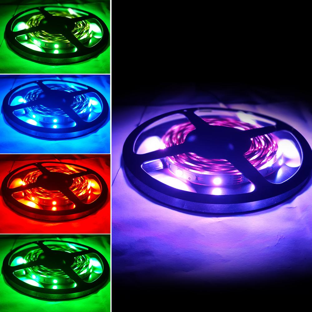 플렉시블 12V RGB 방수 LED 스트립 바 5050-30 10mm (HDL1603)