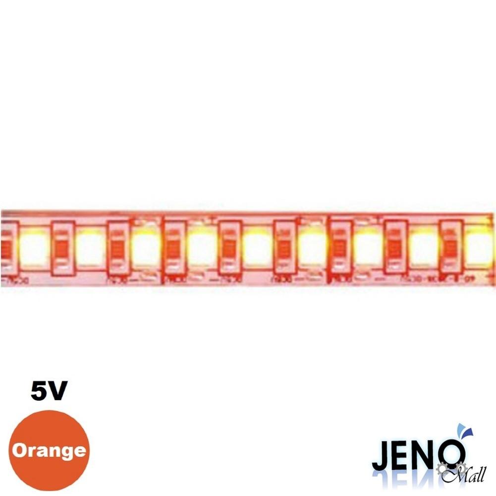 5V 오렌지 LED 스트립 바 3528 6cm (HDL1801)