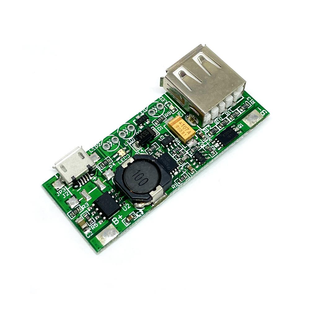 AD4056ES 3.7V 1S 리튬이온폴리머 배터리충방전 승압컨버터모듈 USB 1A/1.6A (HAM2018)