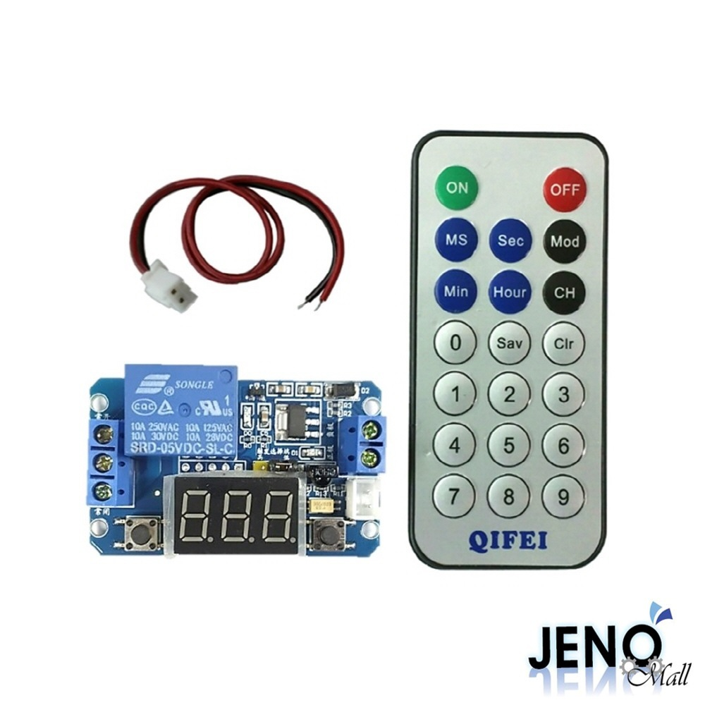 5V 8모드 타이머릴레이모듈 0.0초-999시간 리모컨 컨트롤러 10A (HAM1412)