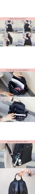 미니백팩 여행용배낭 여성용 천가방 블랙 - 비바시스터, 54,000원, 백팩, 패브릭백팩