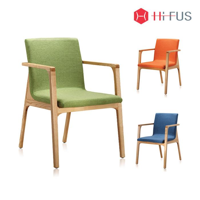 하이퍼스 HFC-2024F 레토 원목 패브릭 의자