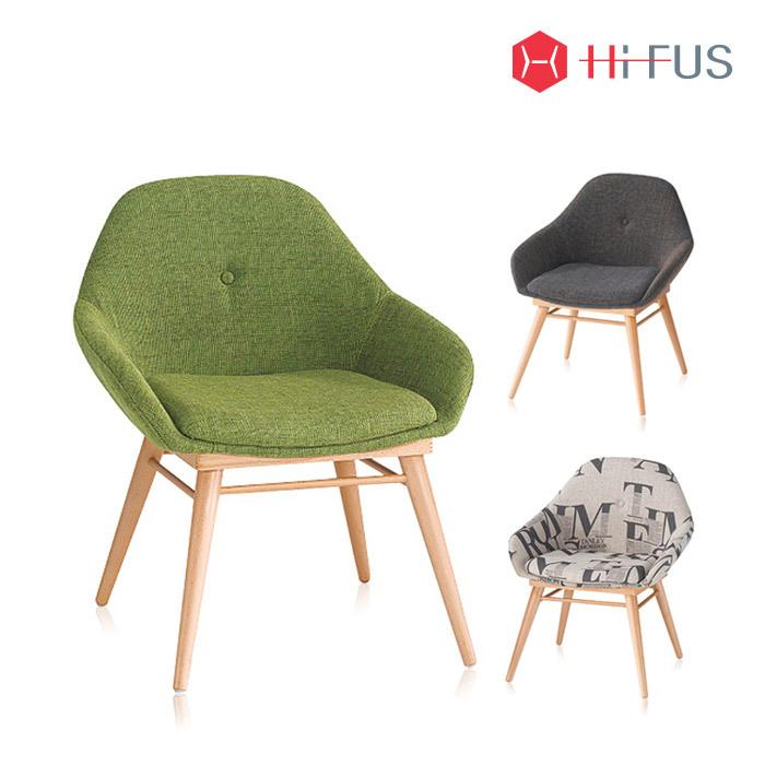 하이퍼스 HFC-1107 엔젤 원목 패브릭 의자