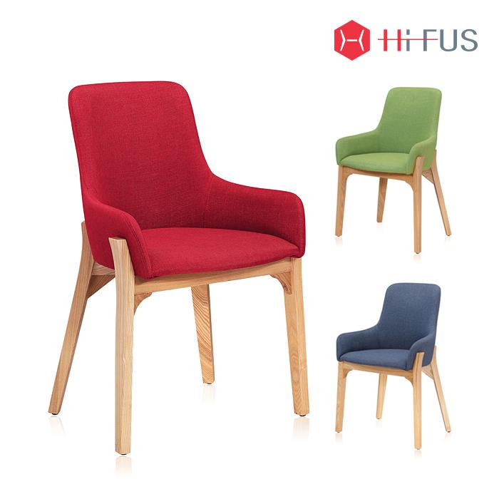 하이퍼스 HFC-1105 피넛 원목 패브릭 의자