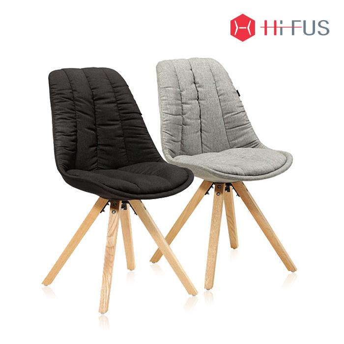 하이퍼스 HFC-7040 꼬모도 원목 패브릭 의자