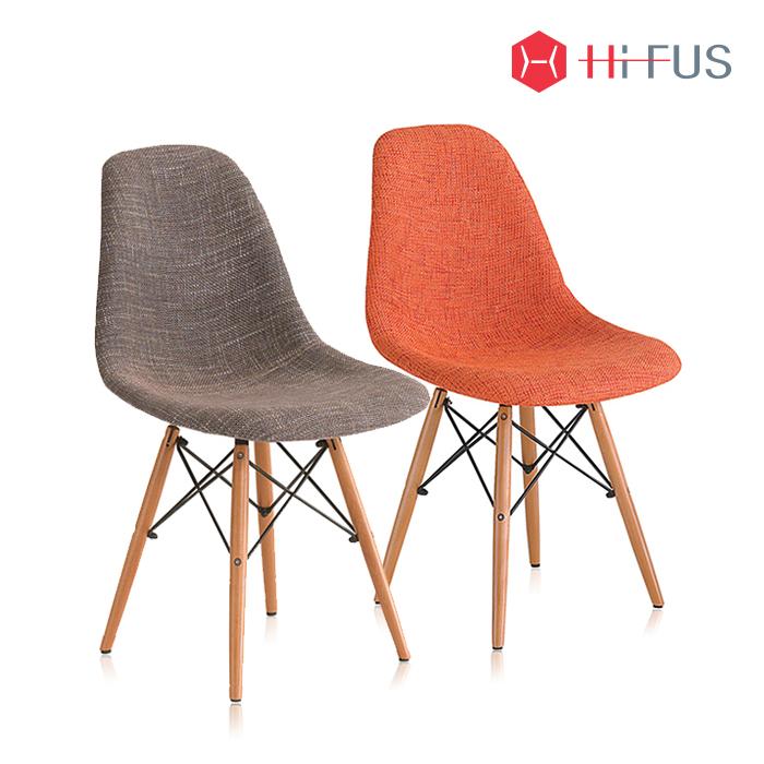 하이퍼스 HFC-117F 루코 원목 패브릭 의자