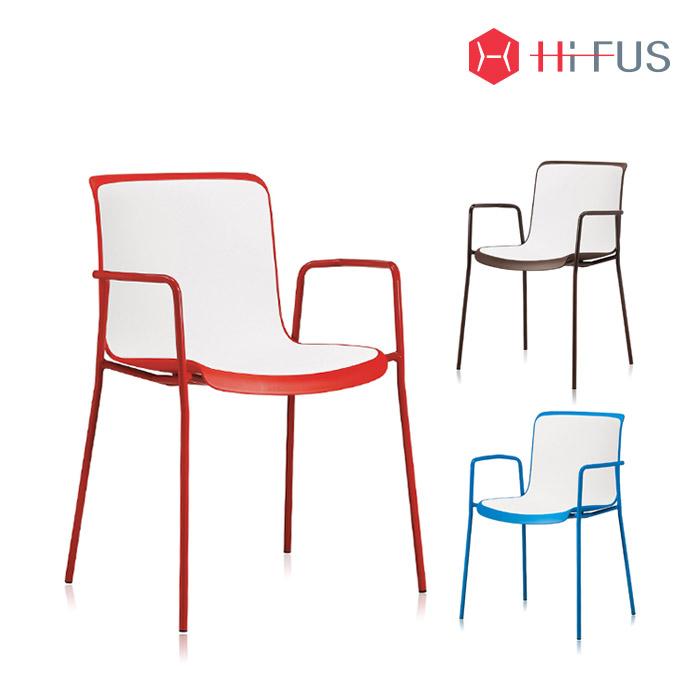 하이퍼스 HFC-3079-2 코로 투톤 철재 팔걸이형 의자