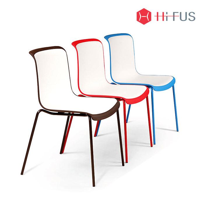 하이퍼스 HFC-3079-1 코로 투톤 철재 일반형 의자