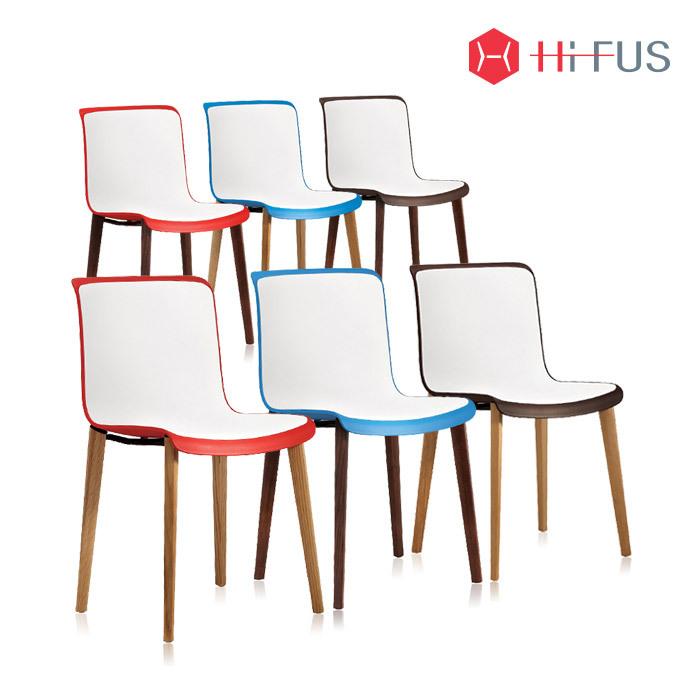 하이퍼스 HFC-3079 코로 투톤 플라스틱 원목 의자