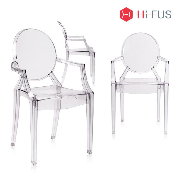 하이퍼스 HFC-8078 클리어 고스트 투명 팔걸이 의자