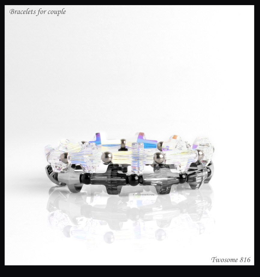 swarovski couple bracelets
