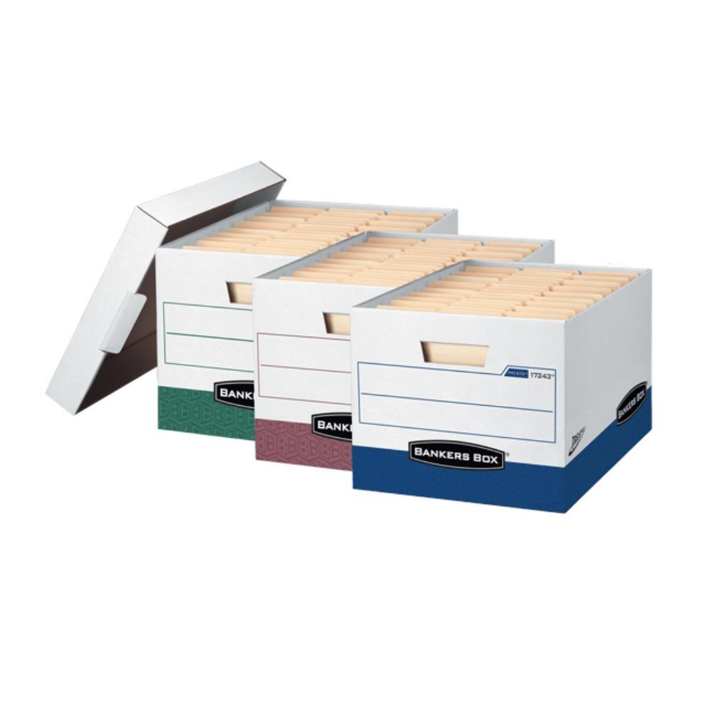 간편조립  서류보관 파일박스 블루 문서보관케이스 책상수납함 책꽂이정리함