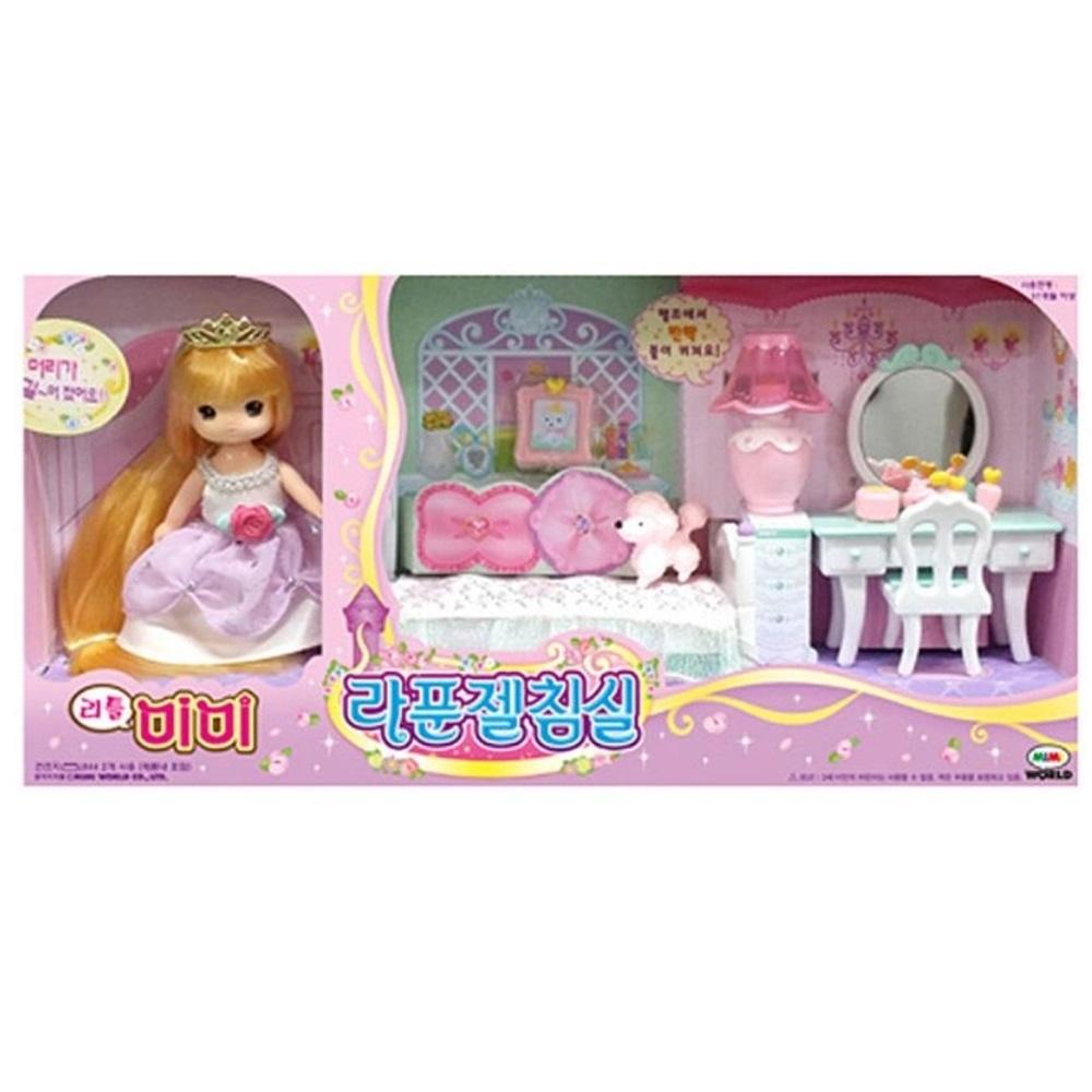 작은인형 미미 공주인형 역할놀이 라푼젤  귀여운선물 여자친구선물