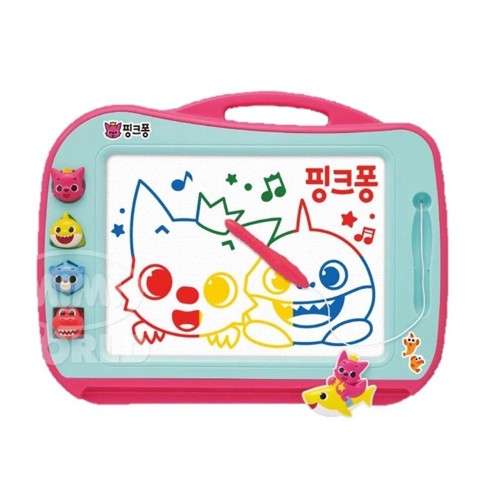 핑크퐁 유아 교구 칼라 매직보드 자석메모 어린이칠판 자석보드