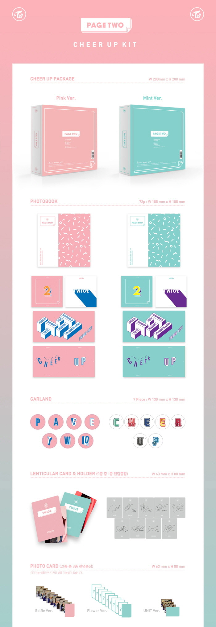 Details about Twice - Page Two 2nd Mini Album Pink/Mint Ver  New Sealed CD  KPOP