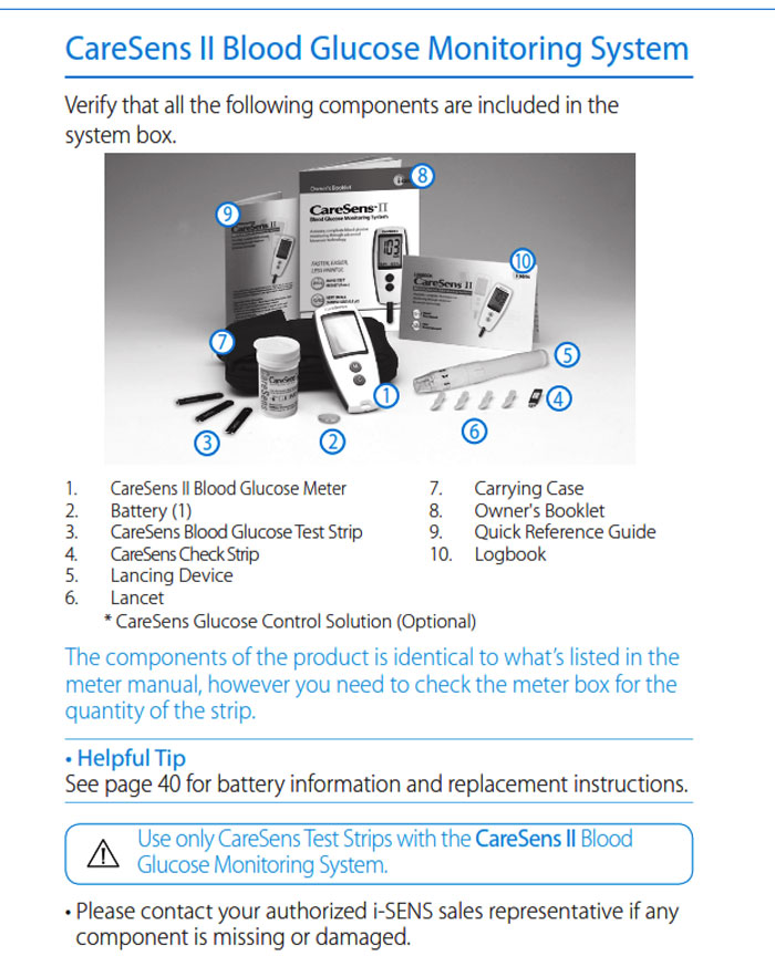 New CareSens2 Diabetic Blood Glucose Monitoring System
