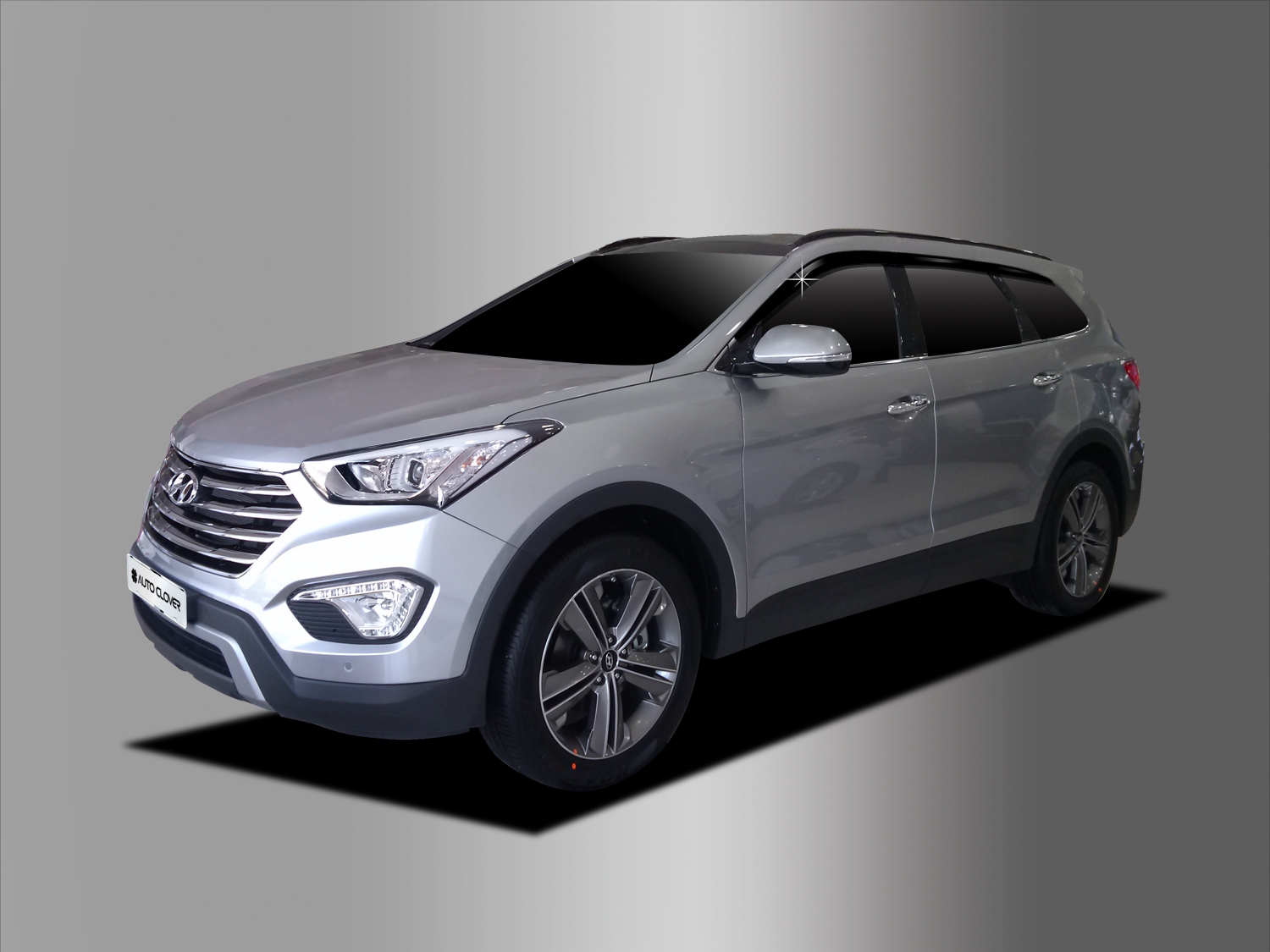 7-Passenger Seat Model AUTOCLOVER Smoked Black Side Window Wind Deflectors Visor 6p for 2019 Hyundai Santa Fe XL