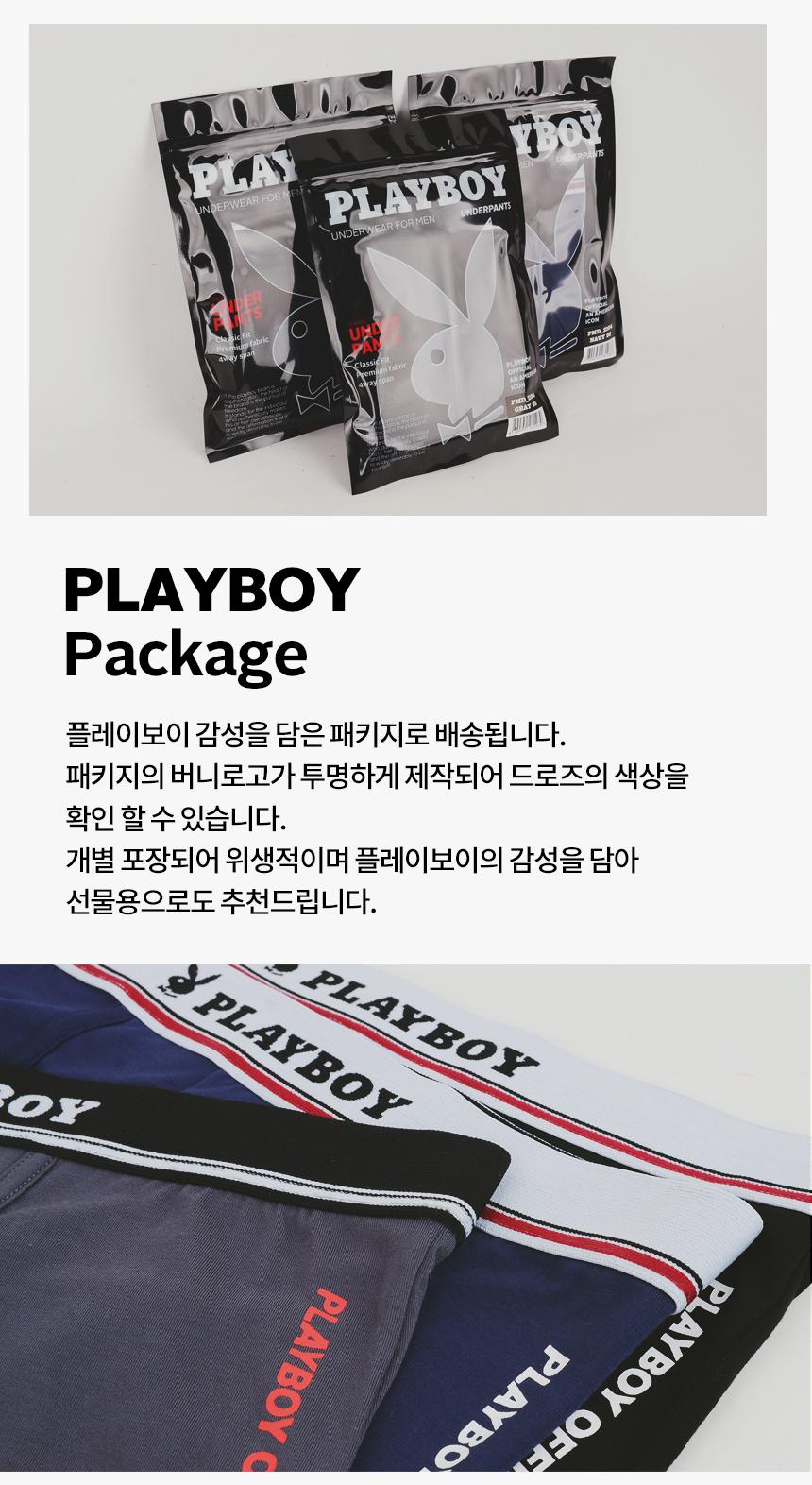플레이보이(PLAYBOY) 레이온 남성 오피셜 드로즈 네이비 1매입 PMD2104-NV