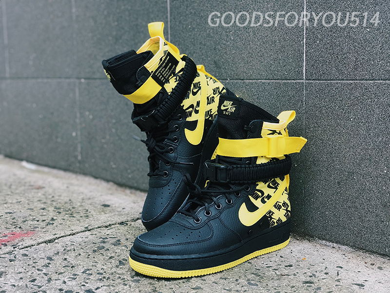 ebc7e11484bc5 Nike SF Air Force 1 Hi Men s Boot Black Dynamic Yellow AR1955-001