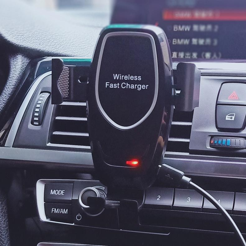[K80 차량용 고속 무선충전 중력식거치대] 차량용 무선충전 거치대 / 차량용 무선충전기