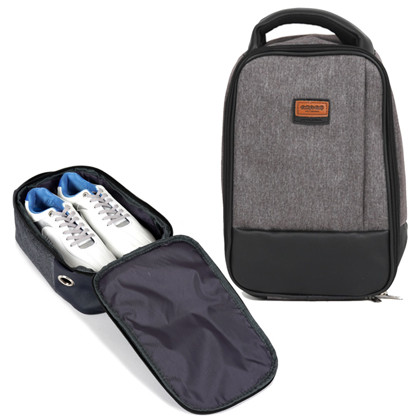 Golf Shoe Bag >> Details About Golf Shoe Bag Accessories Brown High Quality Golf Shoe Bags
