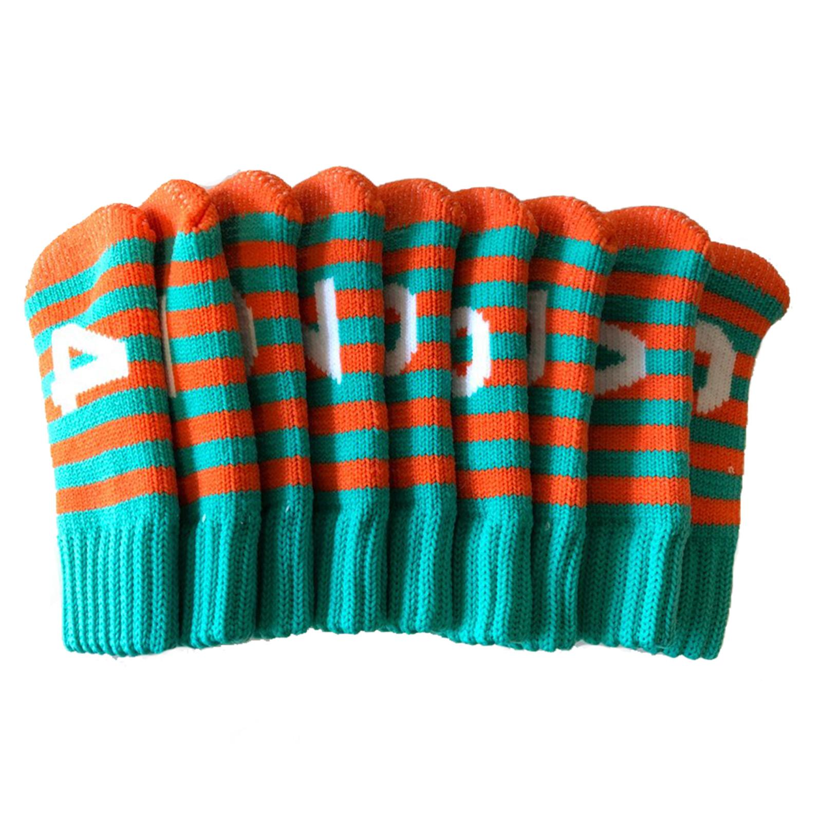 Iron Golf Knit Headcovers Knitted Head Cover Socks Green Orange New Ebay