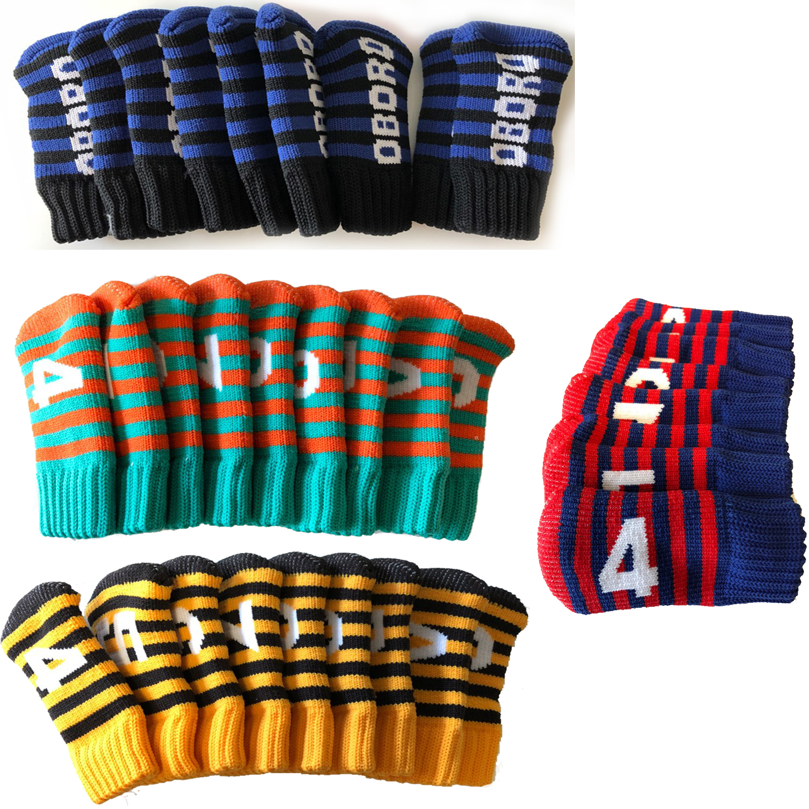Best Knit Knitted Golf Club Iron Head Covers Set Socks Style Korean Golf Ebay