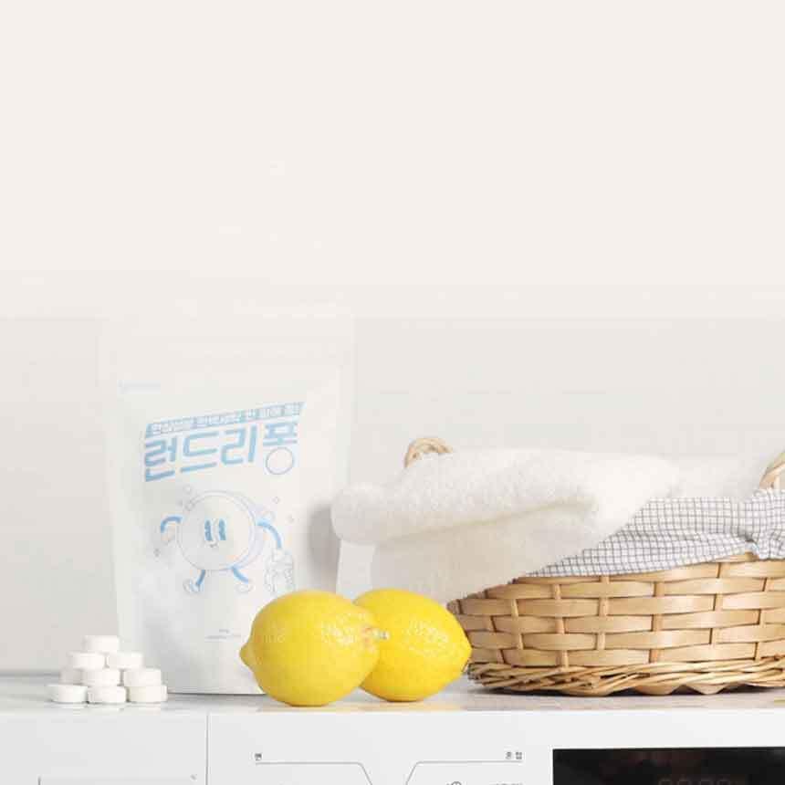 랄라바디 한 알로 간편함을 더한 발포 세탁세제 런드리퐁(70알) 이미지