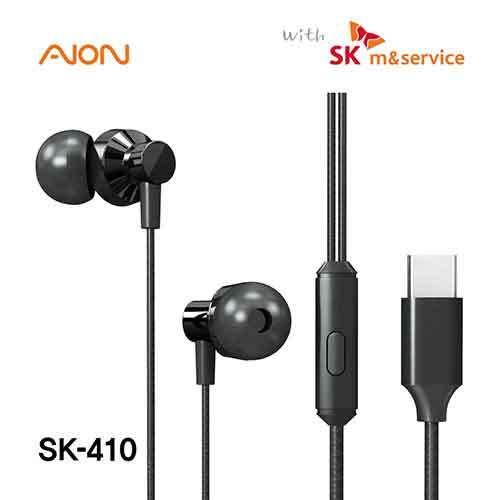 아이온 SK 스마트폰 스테레오 커널형 C타입 이어폰 SK-410 이미지