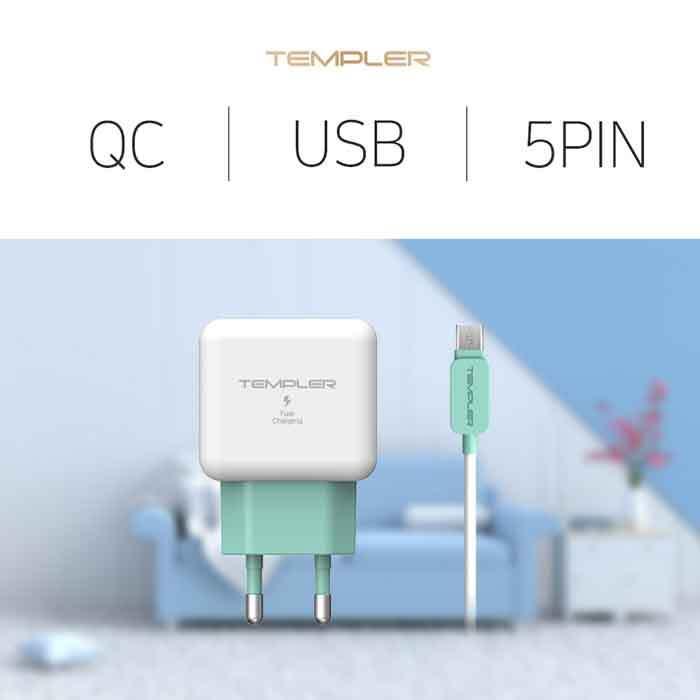 템플러 QC 3.0 USB 1포트 5핀 ICTC-18WQC30U1_5P 이미지
